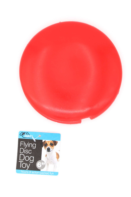 Squeaky Flying Disc Dog Toy