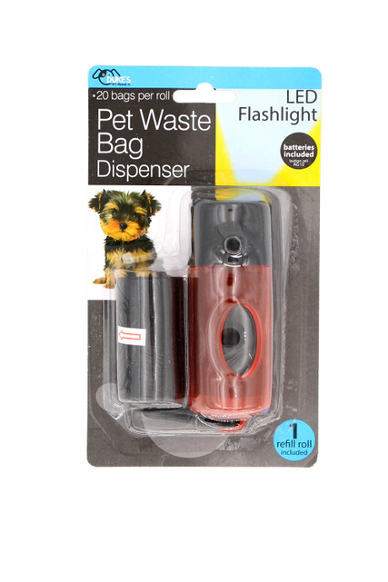 Dog Poop Bag Dispenser with LED Light