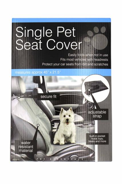Water Resistant Single Pet Car Seat Cover Main Image