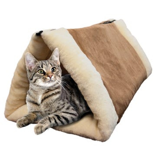 2-in-1 Cozy Cat Tunnel and Flat Bed