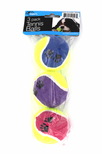 Medium Size Fetch Tennis Balls for Dogs - 3 Pack