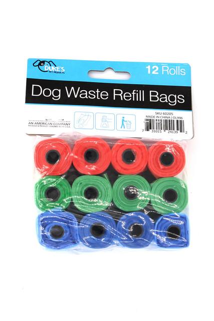 Dog Poop Bags - 12 Rolls - 180 Bags