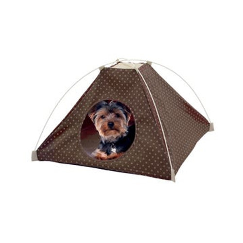 Polka Dot Pet Tent with Fleece Pad