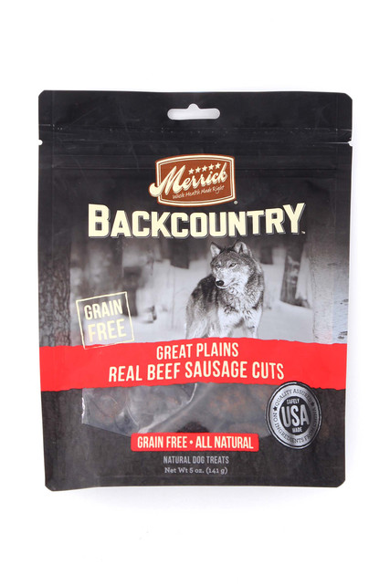 Merrick Backcountry Great Plains Real Beef Sausage Cuts - 5 oz