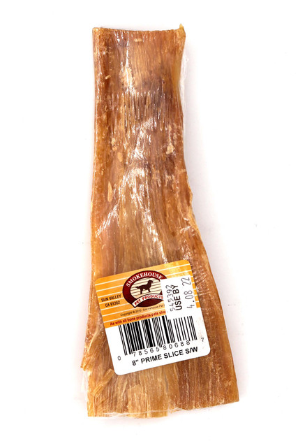 "Smokehouse 8"" Prime Slices Smoked Beef Dog Treat - Made in USA"