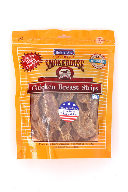 Smokehouse Chicken Breast Strips Dog Treats - 8 oz - Made in USA