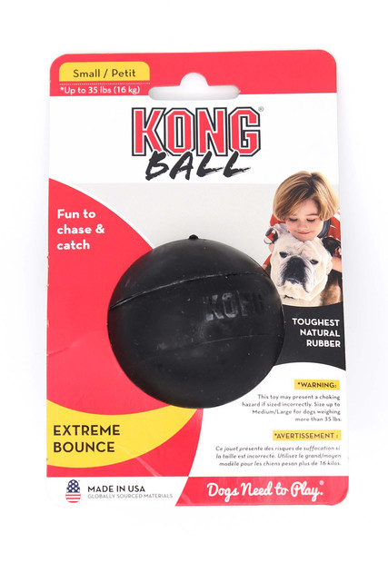 KONG Extreme Black Bounce Ball Dog Toy - Small