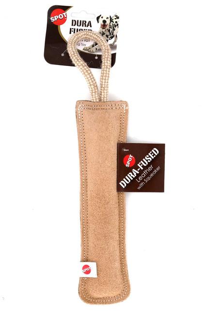 Spot Dura-Fused Leather Retriever Stick Dog Toy