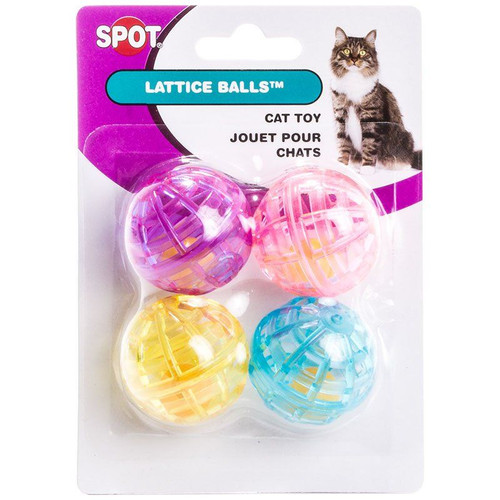 Spot Lattice Ball Cat Toys with Bell
