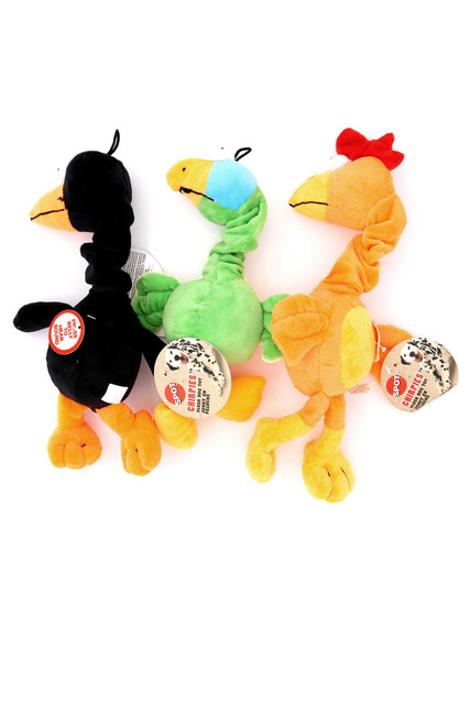 Tropical Spot Plush Chirpies Singing Bird Dog Toy