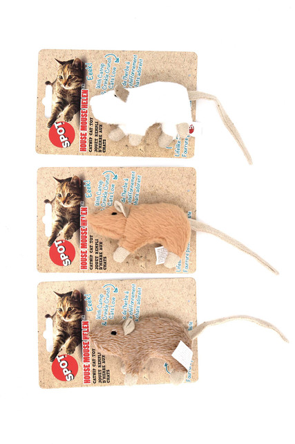 Spot House Mouse Crinkle Cat Toy with Catnip