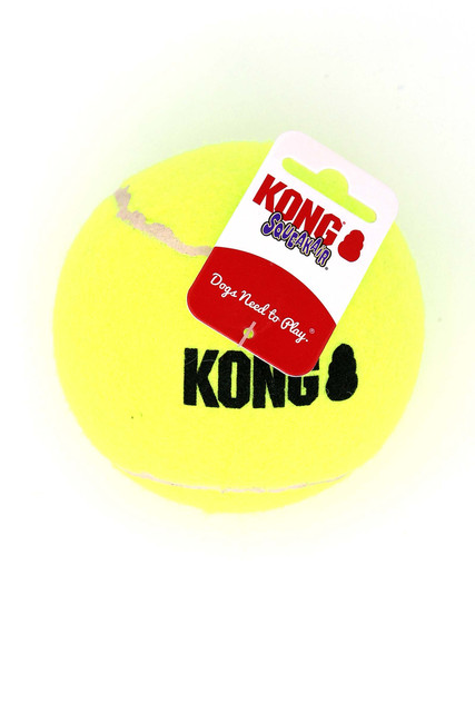 Kong SqueakAir Single Tennis Ball Dog Toy - Extra Large