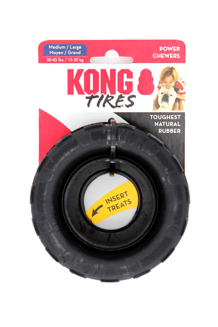 KONG Tires Dog Chew Toy for Power Chewers - Medium/Large