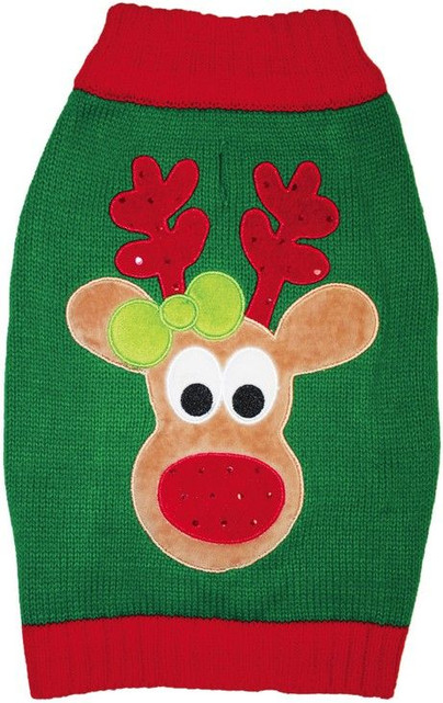 Reindeer Christmas Dog Sweater by Fashion Pet