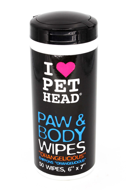 Pet Head Paw & Body Dog Cleansing Wipes -50 Count - Orangelicious Scent