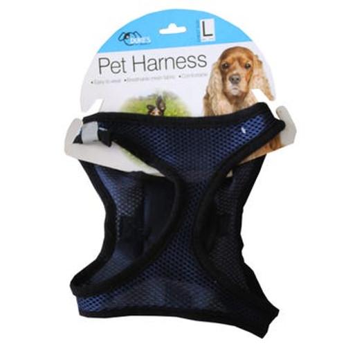 Easy Wear Buckle and Velcro Mesh Dog Harness - Medium
