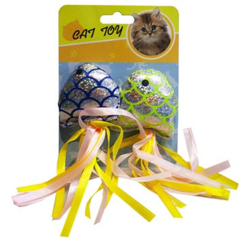 Sparkly Fish Chaser Cat Toys