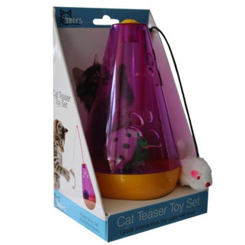 Interactive Standing Ball and Mouse Teaser Cat Toy