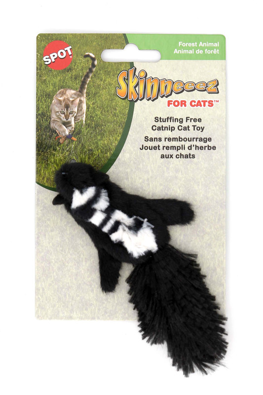 Stuffing Free Forest Animal Cat Toy with Catnip