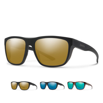 Smith Barra Sunglasses with Matte Black Frame and ChromaPop Bronze Mirror Lens front view