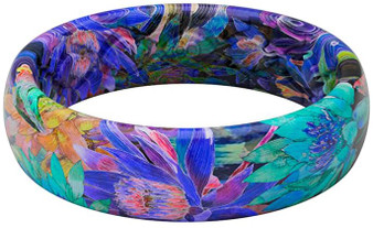 Groove Life Thin Twilight Blossom Women's Silicone Band/Ring