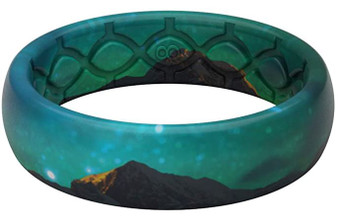 Groove Life Thin Aurora Silicone Wedding Ring Band
