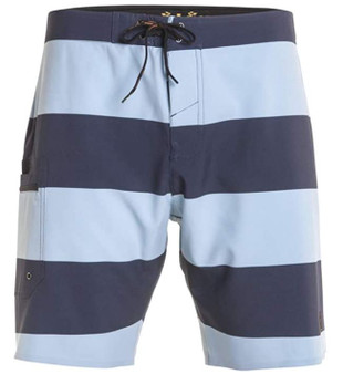 Dark Seas Board Short Striped Blue Front