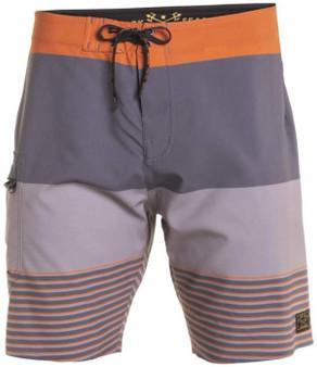 Grundens x Dark Seas Iron Strip Board Shorts Front View