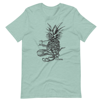 Octopus Tee with a side of Pineapple. Surfing T-shirt