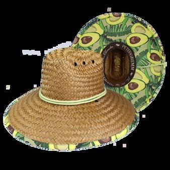 Peter Grimm Avocado Lifeguard Straw Hat