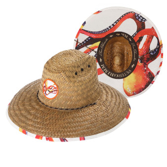 Peter Grimm Octopus Print Lifeguard Straw Hat