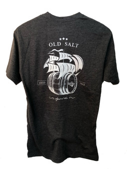 Aged at sea grey shirt with white back
