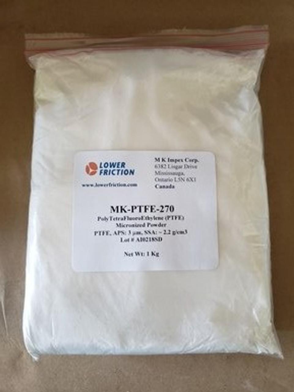 Poly Tetra Fluoro Ethylene (PTFE) Micronized Powder, 3 micron