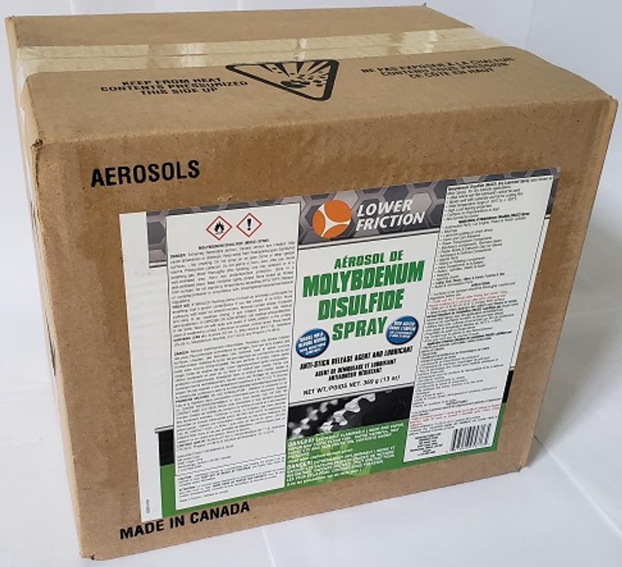 Molybdenum Disulfide (MoS2) Aerosol Spray, 13 Oz/370 grams