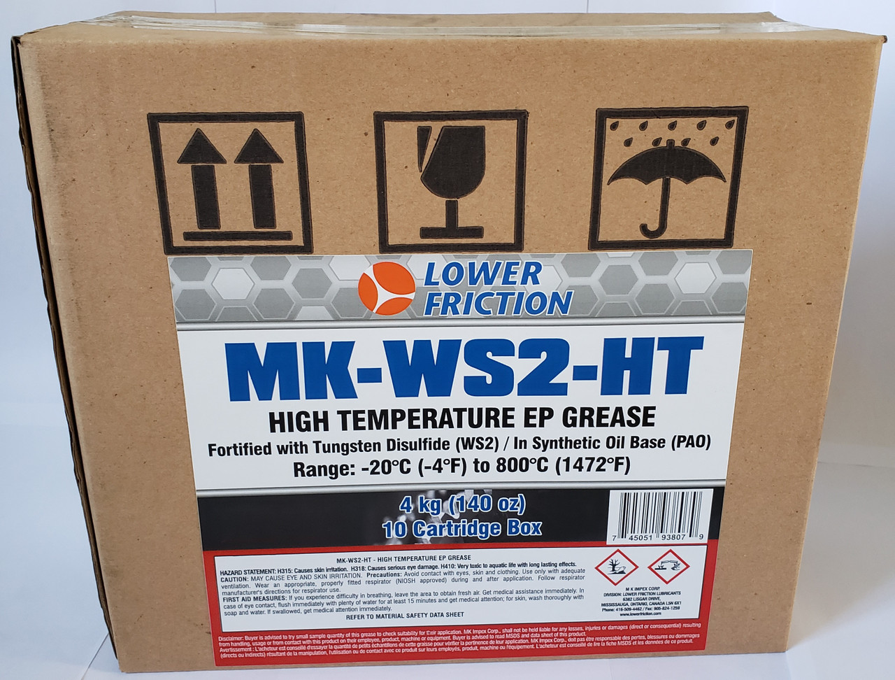 High Temperature EP Grease with WS2, 14 Oz/400 grams Cartridge