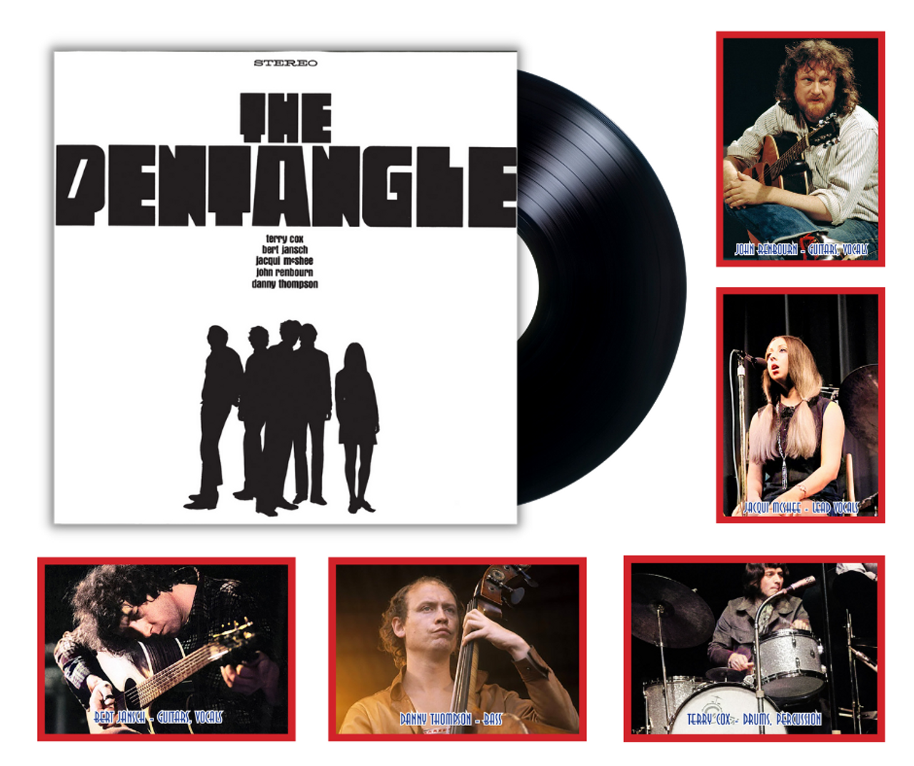 The Pentangle by British folk-jazz band The Pentangle available on 180 gram vinyl