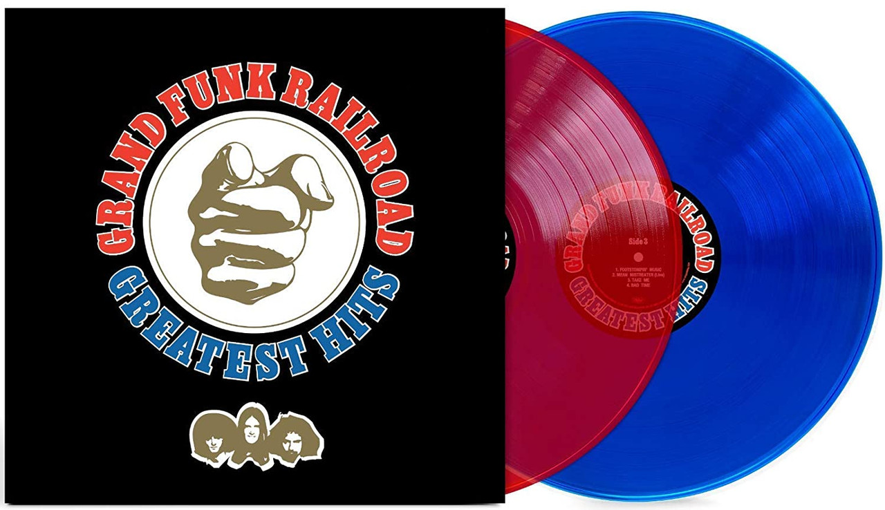 Greatest Hits by Grand Funk Railroad available on exclusive colored vinyl