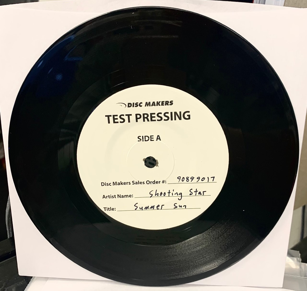 Summer Sun b/w When You're Young by Shooting Star vinyl single test pressing available now.