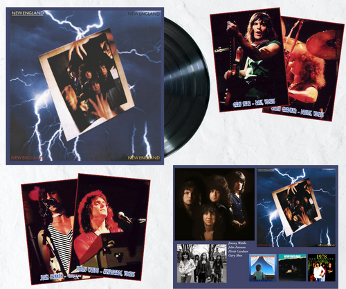 New England by AOR Rock Band New England available on deluxe 180g LP.