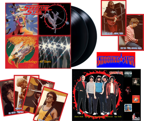Anthology 40 Years by Rock Band Shooting Star available on deluxe 180g 2LP.