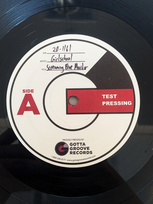 Screaming Blue Murder by Girlschool Test Pressing available now.