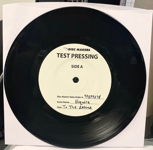 To The Rescue b/w Sunshine Vinyl Single Test Pressing by Esquire available now.