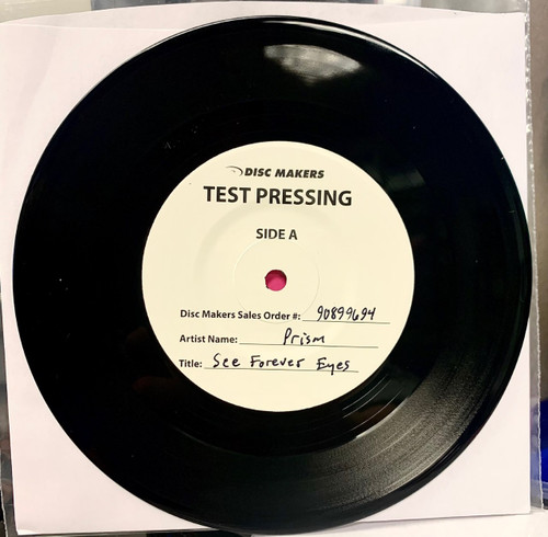 See Forever Eyes b/w Rain by Prism vinyl single test pressing available now.