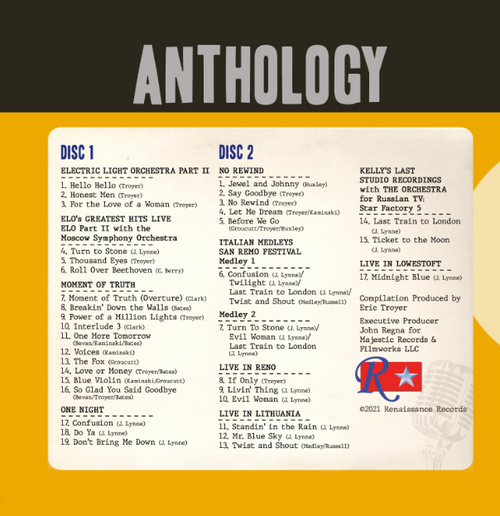 Anthology by Electric Light Orchestra Part II and The Orchestra available for Pre-Order Now