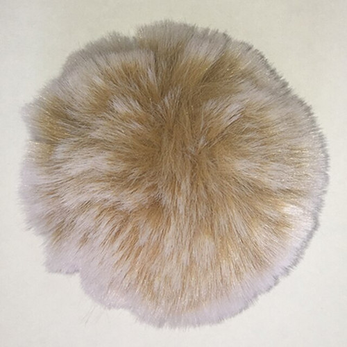 Faux Frosted Rabbit Fur Pom-Poms by McPorter Farms