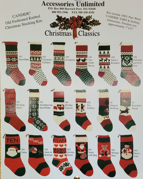 Christmas Stocking Kits by Candide