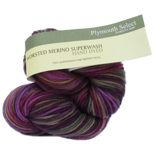 Worsted Merino Superwash Hand Dyed by Plymouth Yarn