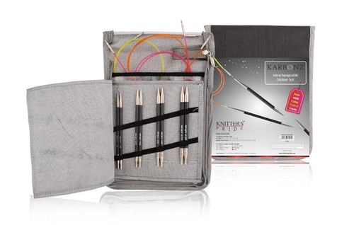 "Karbonz - 4.5"" Interchangeable Needle Set Deluxe by Knitter's Pride"