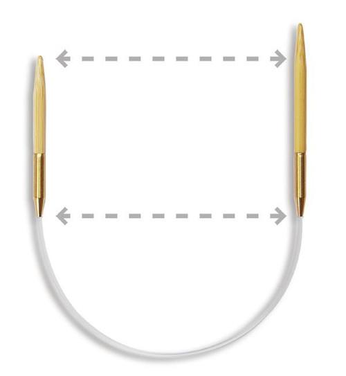 "9.5"" Seeknit Circular Knitting Needles by KA Bamboo"