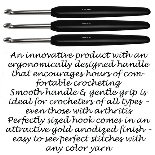 "6"" Crochet Hook -Silver Soft Touch by Knitter's Pride"